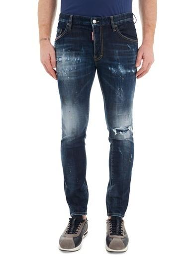 Dsquared2  Slim Fit Cepli Pamuklu Jeans Erkek Kot Pantolon S74Lb0835 S30664 470 Lacivert